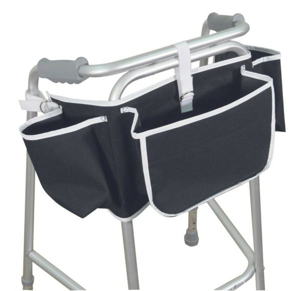 Easy Fit Walking/Zimmer Frame Apron Bag with Four Pockets for Storage