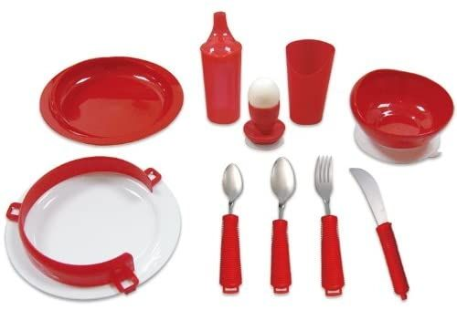 Deluxe Tableware Dining Set - Red