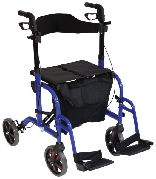 Duo Deluxe Rollator and Transit Chair in One