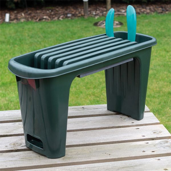 Padded Garden Kneeler with Tool Storage and Integrated Seat