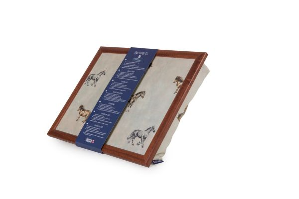 Bean Bag Cushioned Lap Tray in Horse and Pony with Wood Frame