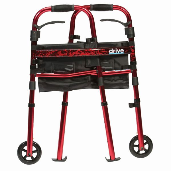 Deluxe Fold Up Walker - Red